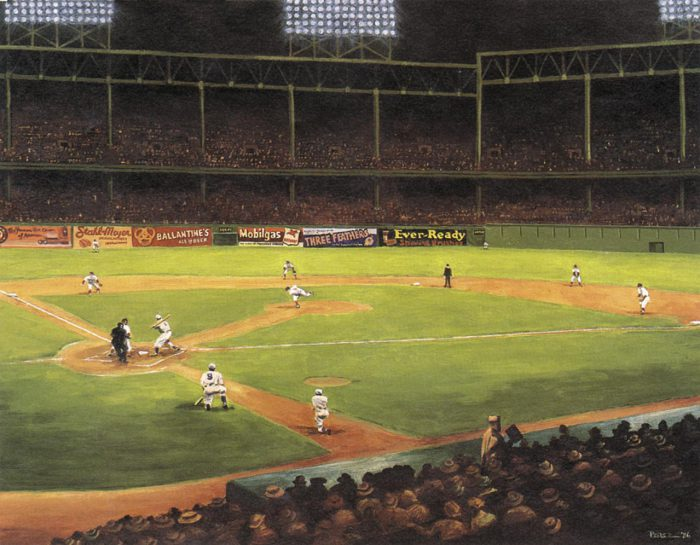 First Night Game At Ebbets Field