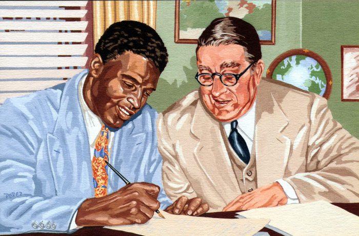 Jackie Robinson & Branch Rickey