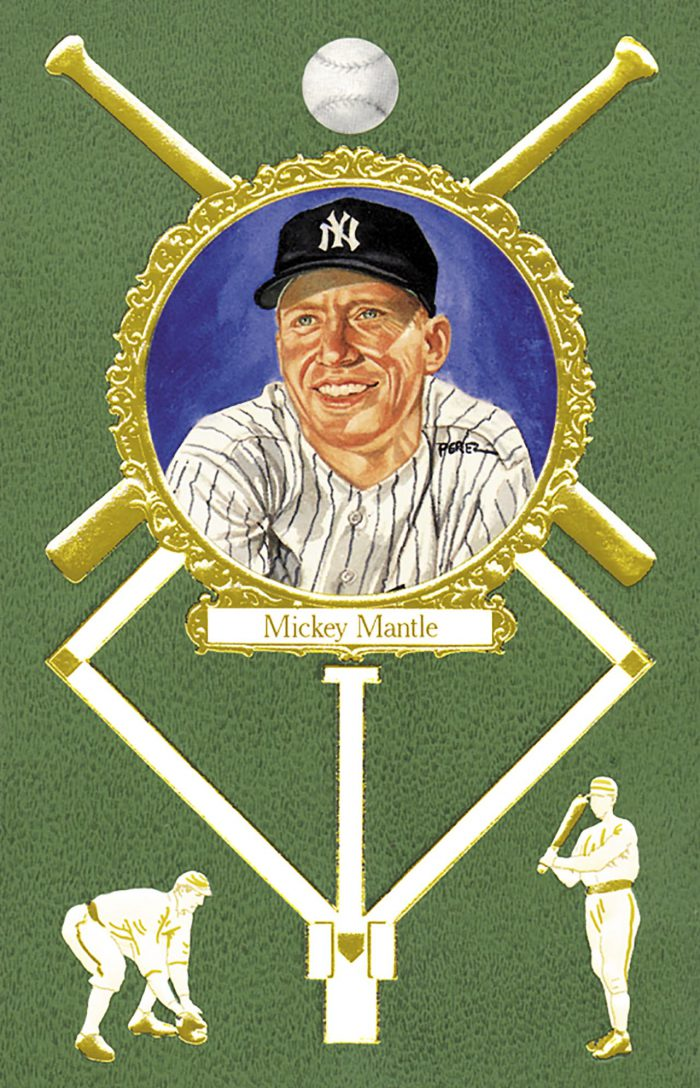 Mickey Mantle, 1908 Rose Postcard