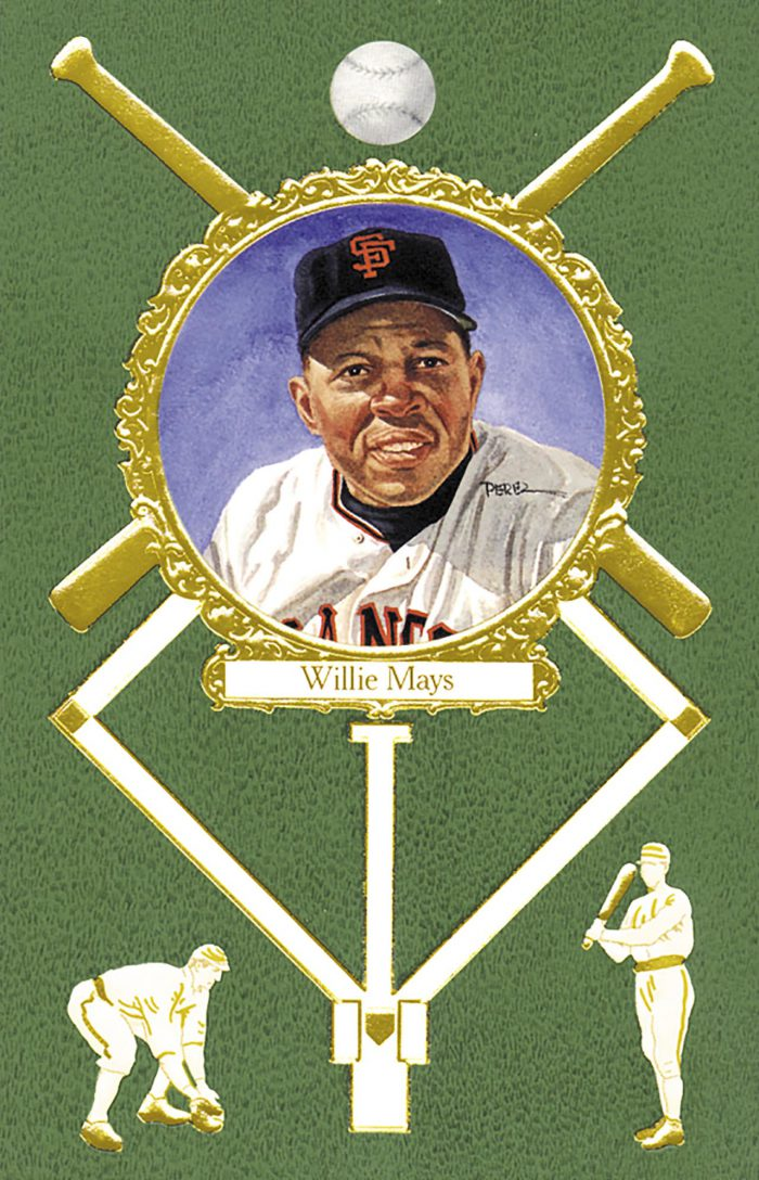 Willie Mays, 1908 Rose Postcard
