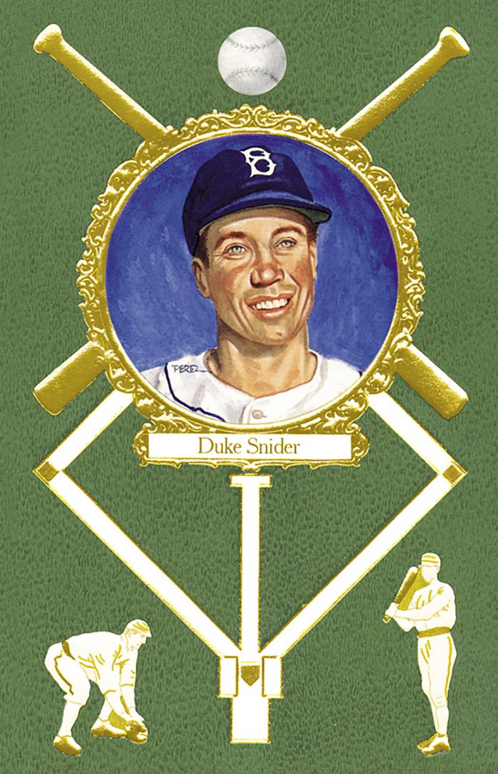 Duke Snider, 1908 Rose Postcard