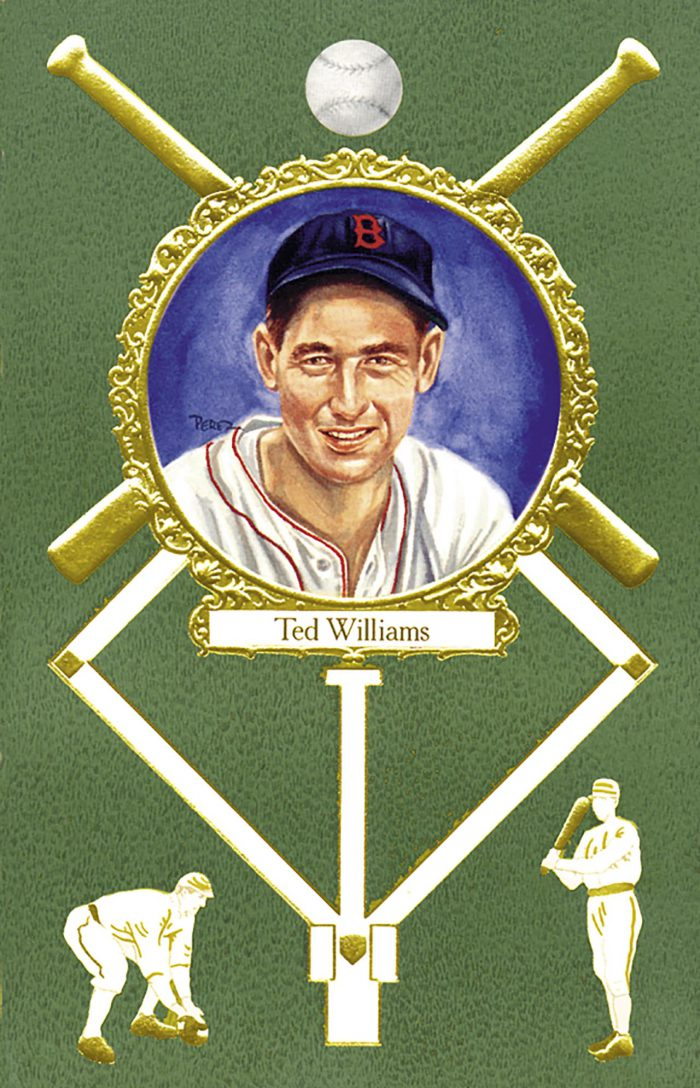 Ted Williams, 1908 Rose Postcard