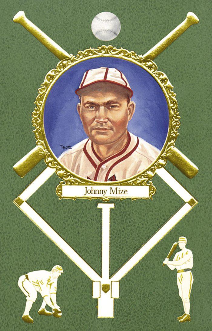 Johnny Mize, 1908 Rose Postcard