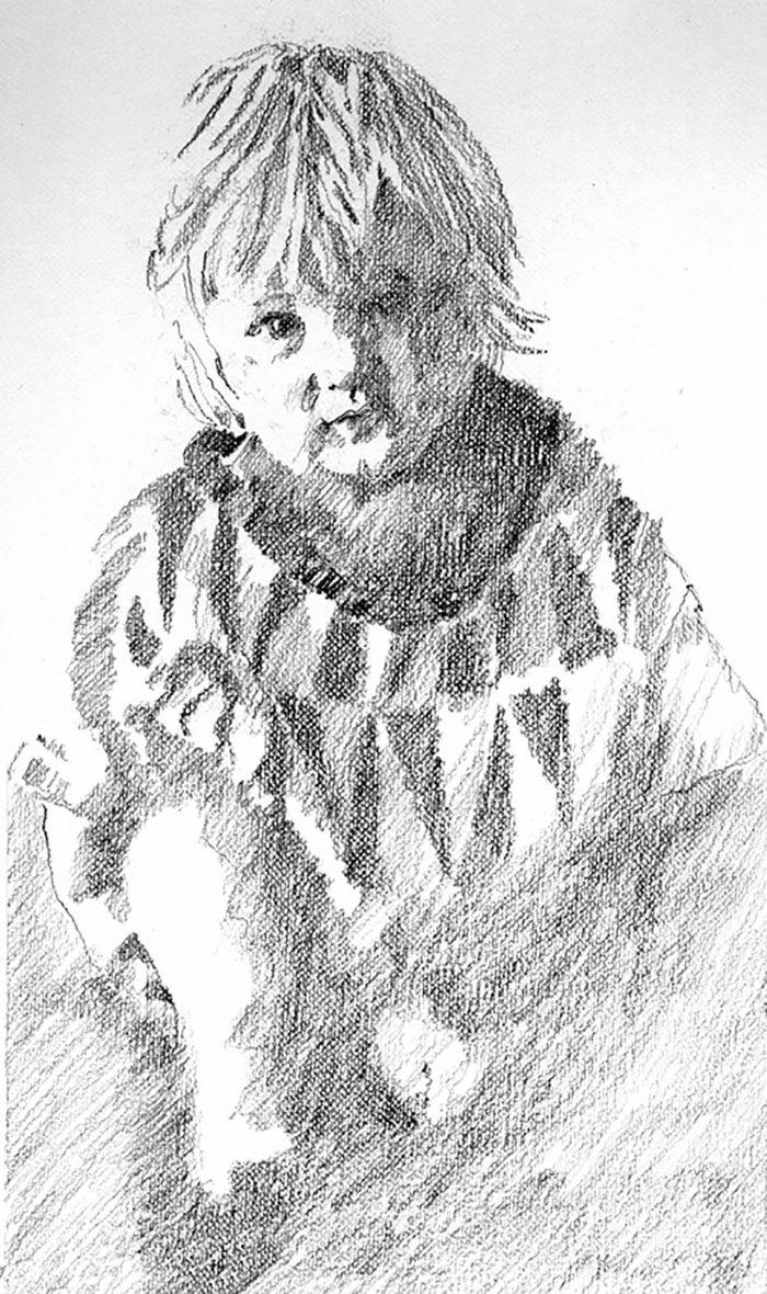 Small Child, pencil