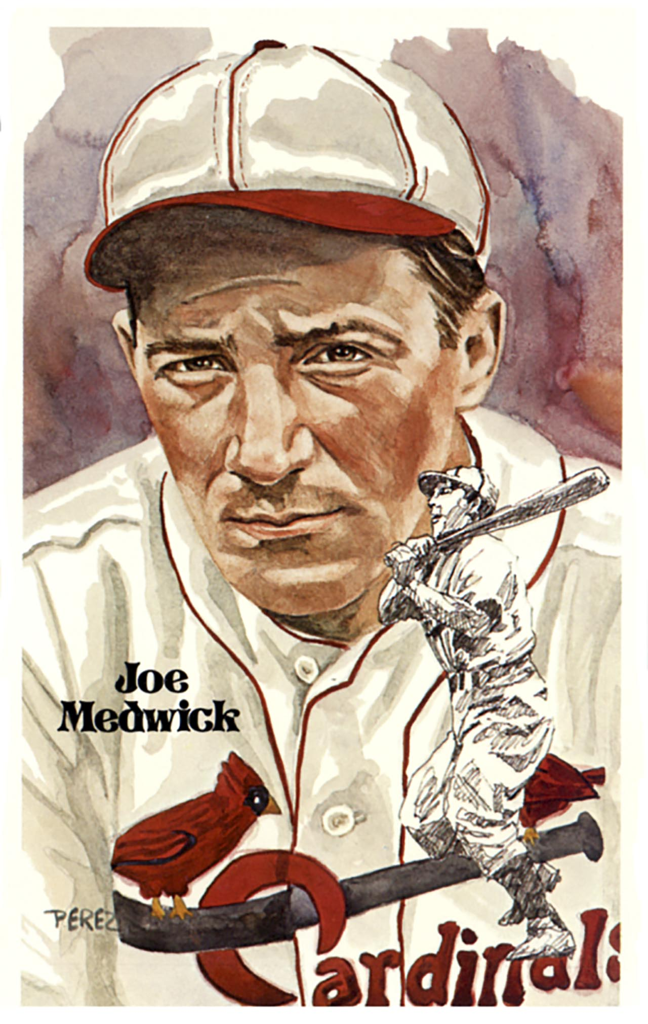 Joe For Oil >> Hall of Fame Art Post Cards Series 4 : Dick Perez